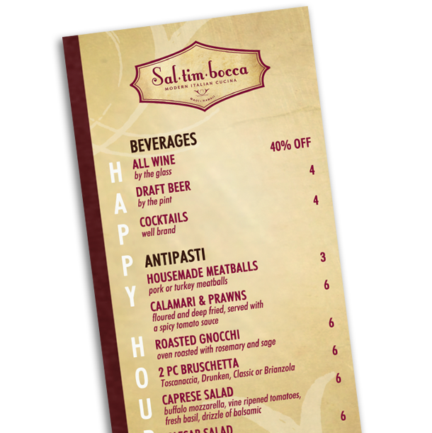 Waterproof Menus Standard 4
