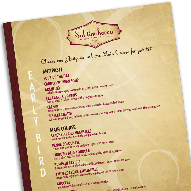 Waterproof Menus Standard 11