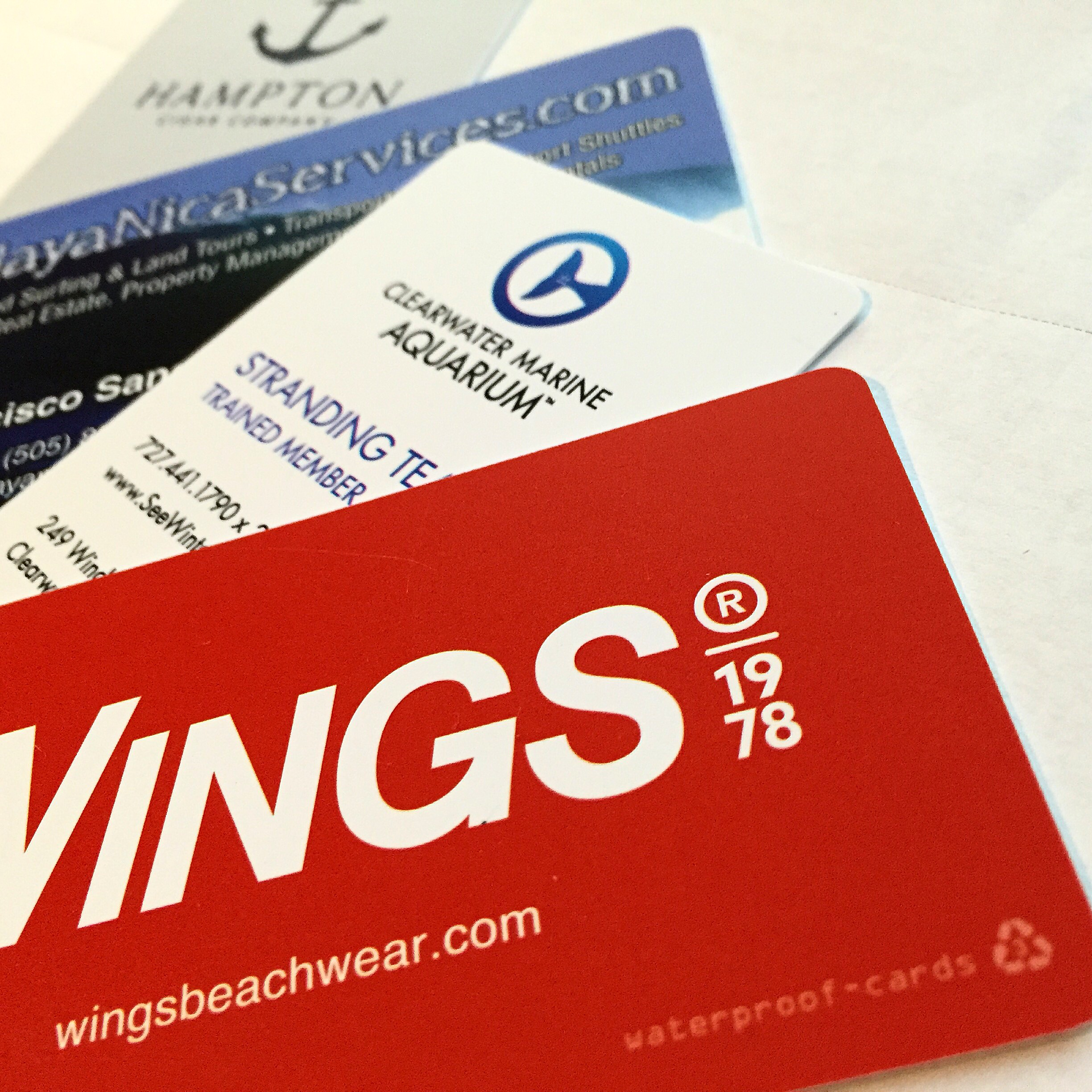Waterproof Premium White Business Cards