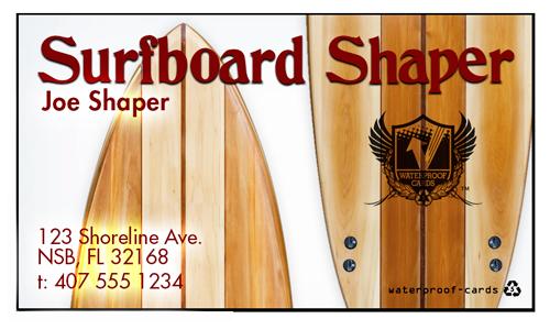 Waterproof Standard Stock Business Cards