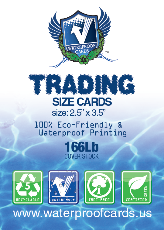 Waterproof Deluxe Trading Size Cards