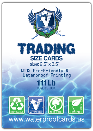Waterproof Standard Trading Size Cards
