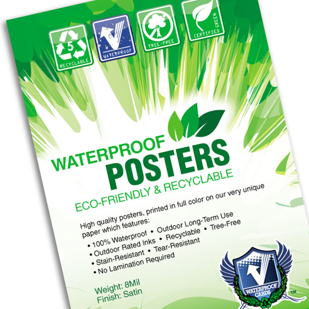 "Waterproof Posters 8.5""x14"""
