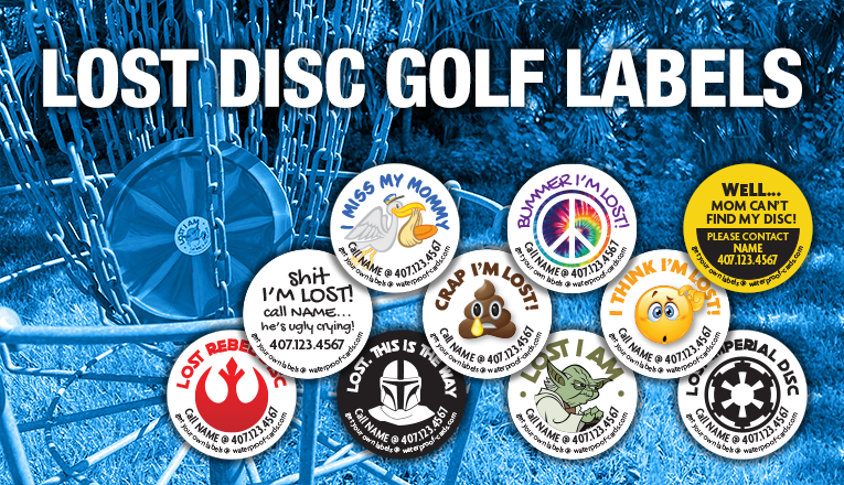 LOST DISC GOLF LABELS
